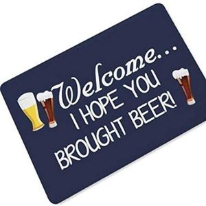 """OHYESS Rubber 24""""x 16"""" Welcome Beer Store Saying &"""